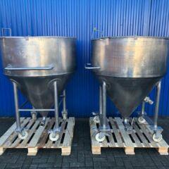 950L Edelstahlbehälter / Silo-0